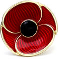 Poppy Recollections Brooch
